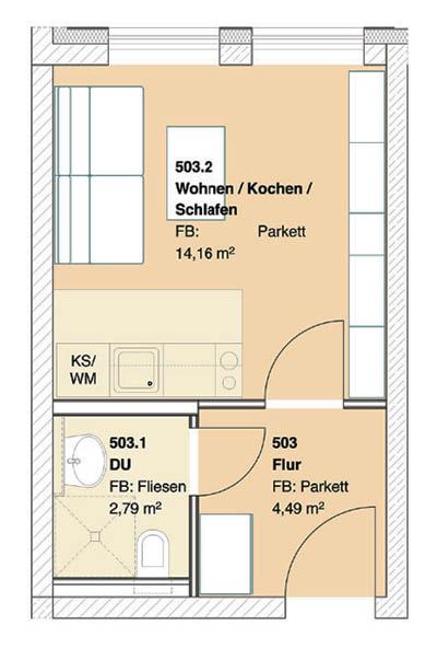 immanuel diakonie mietshausverwaltung mietobjekte seniorenzentrum schneberg grundriss einzimmerwohnung - Einzimmerwohnung